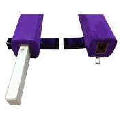 The Beam Store 2.4m Sectional Balance Beam, Purple
