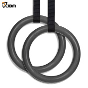 JBM Gymnastics Rings with Adjustable Straps Pull Up Fitness Exercise Rings for Crossfit Training , Organised Storage Full Body Olympic Strength Training Pull Ups and Dips, Gym Rings with Buckles