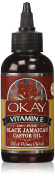 Okay Black Jamaican Castor Oil with Vitamin E and Panthenol, 120ml