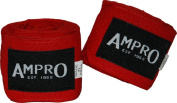Ampro 4.5m Stretch Boxing Hand Wraps - Boxing / MMA / Martial Arts / Fitness / 450cm / Various Colours