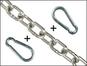 Punching Bag and Punch Bag Chain Necklace Extender With 2 Snap Hooks – Various Lengths