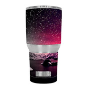 Skin Decal Vinyl Wrap for RTIC 890ml Tumbler Cup (6-piece kit) / Winter Starry Night