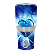 Skin Decal Vinyl Wrap for RTIC 890ml Tumbler Cup (6-piece kit) / Glowing Heart