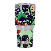 Skin Decal Vinyl Wrap for RTIC 890ml Tumbler Cup (6-piece kit) / Skull Squad, green berets