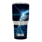 Skin Decal Vinyl Wrap for RTIC 890ml Tumbler Cup (6-piece kit) / Earth wrapped in Clouds