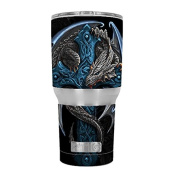 Skin Decal Vinyl Wrap for RTIC 890ml Tumbler Cup (6-piece kit) / Dragon on Cross