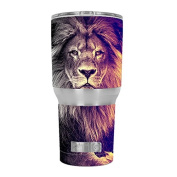 Skin Decal Vinyl Wrap for RTIC 890ml Tumbler Cup (6-piece kit) / Proud Lion, King of the Pride