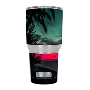 Skin Decal Vinyl Wrap for RTIC 890ml Tumbler Cup (6-piece kit) / Ocean sunset Pink sky