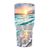 Skin Decal Vinyl Wrap for RTIC 890ml Tumbler Cup (6-piece kit) / sunset on beach