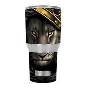 Skin Decal Vinyl Wrap for RTIC 890ml Tumbler Cup (6-piece kit) / The King of the Jungle