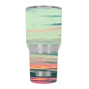Skin Decal Vinyl Wrap for RTIC 890ml Tumbler Cup (6-piece kit) / Just Breathe sunset scene