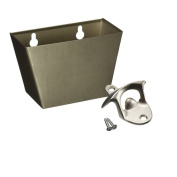 Windspeed Stainless steel Wall Mounted Bottle Opener And Bottle Cap Catcher Set -With Screws