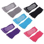 GHB 5 Pairs Yoga Socks Anti-Slip Full Toe Grip Pilates