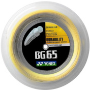 Yonex BG65 Badminton String 0.70mm Yellow 200m