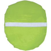 Reflective Backpack Cover- Showerproof- High Visibility Green with Reflective Strip- Ideal for up to 20L Backpacks
