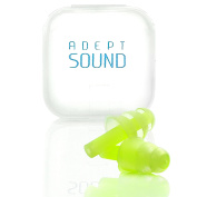 Ear Plugs (Green) Noise Cancelling For Sleeping, Concerts, Music Events, Shooting Range, Construction Work, Motor Sports Racing, Reusable Soft Hypoallergenic Silicone Material, Comfortable Earplugs