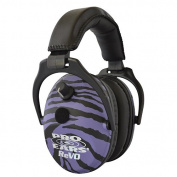 Pro Ears - ReVO - Electronic Hearing Protection and Amplification - NRR 25 - Youth and Women Ear Muffs - Purple Zebra