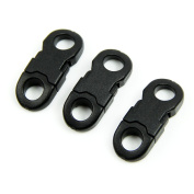 HeroNeo® 10Pcs Buckles Black For Paracord Bracelets Plastic Clasp Side Release New