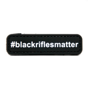Black Rifles Matter #blackriflesmatter PVC Morale Patch, Hook and loop Morale Patch by NEO Tactical Gear