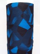 Winter Neck Warmer, ski balaclava, ski snood, ski neck warmer - Dark blue geometric pattern