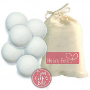 Wool Dryer Balls By Heart Felt Six Pack