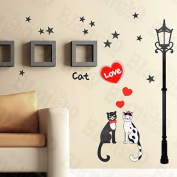 Cat Love - Wall Decals Stickers Appliques Home Decor