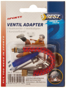 Best Sport Valve Adapter with 3 Needles - Red