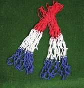 New Harrod Standard Basketball Synthetic Practise Nets Pair-red White & Blue 3mm