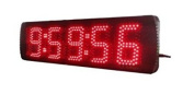 Godrelish Large Red Colour LED Clock Timer 13cm High Digital for Sport Race Timing Use Can As Clock and Countdown and Count up with Ir Remote Control
