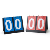 GOGO 2 Pieces Portable Table Top Scoreboards, 1 Blue 1 Red