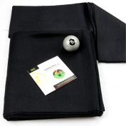 2.1m BLACK Hainsworth Elite-Pro Pool Table Cloth - FREE Silver 8 Ball