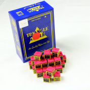 12 Pieces RED TRIANGLE Snooker & Pool Chalk - Worlds Most Popular Chalk!