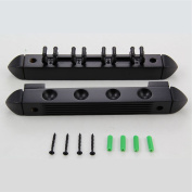 BLACK 4 Way CLIP Snooker Pool Cue Wall Mounted Rack - holds Up To 4 Cues