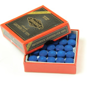 Box of 50 10mm Leather Blue Diamond Snooker Pool Cue Tips