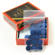 10 X 10mm Leather Blue Diamond Snooker Pool Cue Tips - Free Sandpaper