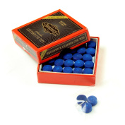 3 X 10mm Leather Blue Diamond Snooker Pool Cue Tips - Free Sandpaper