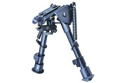 Trinity Force Compact Adjustable Height Bipod, Black, Smooth Legs