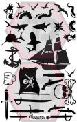 Pirate 2 stencil for cerakote, gunkote, duracoat Avery paint mask sticky back vinyl