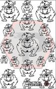 USMC Bulldog stencil for cerakote, gunkote, duracoat Avery paint mask sticky back vinyl