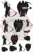 Grim Reaper 1 stencil for cerakote, gunkote, duracoat Avery paint mask sticky back vinyl