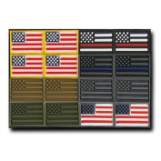 Rapdom Tactical USA-A Tactical Rubber Patch (16 Pack), Multicolor