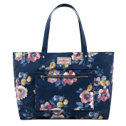 CATH KIDSTON Navy Windflower Bunch Reversible Shoulder Tote Bag