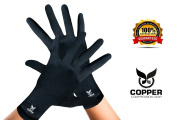 Arthritis Gloves By Copper Compression Gear (Full Finger .   - Relieve Symptoms of Arthritis, RSI, Carpal Tunnel, Swollen Hands, Tendonitis & More!