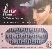 Ultra Thick Knotted Individual Cluster Eyelashes (Medium 627-01) by FINE LINES