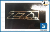 GMC Sierra Z71 Off Road decals stickers - CHROME Reflective (2001-2006) bed side 1500 2500 HD