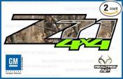 Chevy Silverado RealTree AP VIBRANT GREEN Z71 4x4 decals stickers - VGAP (2007-2013) bed side 1500 2500 HD