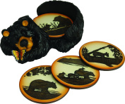 River's Edge Bear Coaster Set