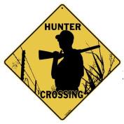 Hunter Crossing 30cm X 30cm Aluminium Sign
