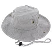 Gray_(US Seller)Cotton Hat Boonie Bucket Cap Summer Men Women