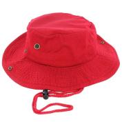 Red_(US Seller)Cotton Hat Boonie Bucket Cap Summer Men Women